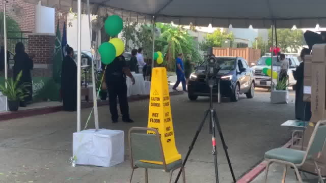 new orleans, u.s. - drive through college graduation during covid-19 pandemic on tuesday, august 4, 2020. - community college stock videos & royalty-free footage