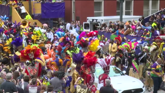 wgno new orleans la us krewe of rex parade at mardi gras celebrations on tuesday february 25 2020 - parade of krewe of rex stock videos & royalty-free footage