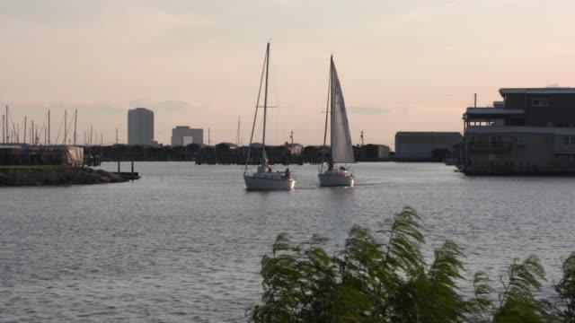 WGN New Orleans LA US Lake Pontchartrain at sunset on Thursday May 11 2017