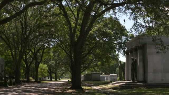 wgno new orleans la us tombs and sculptures at metairie cemetery on friday may 5 2017 - figura maschile video stock e b–roll