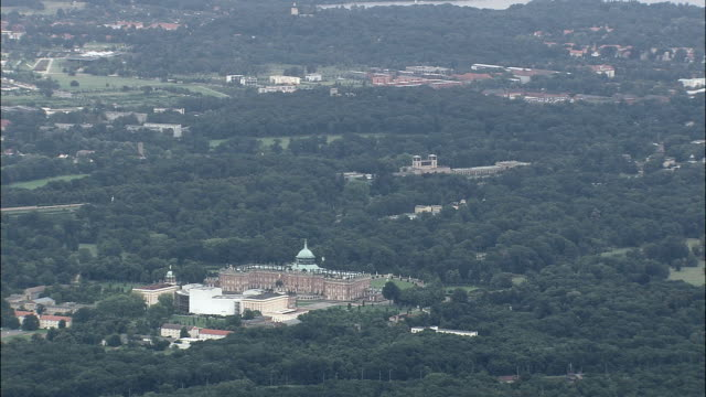 new palace  - aerial view - brandenburg,  germany - brandenburg state stock videos & royalty-free footage