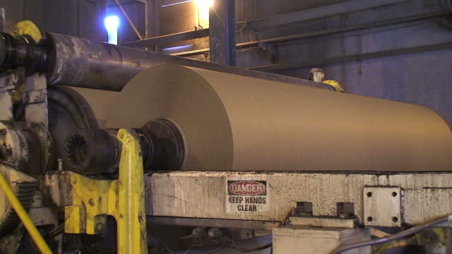 new paper from recycled cardboard - paper mill stock videos and b-roll footage