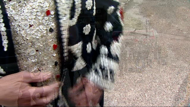new pearly kings and queens crowned reporter to camera john scott interview interview sot - john scott stock videos and b-roll footage