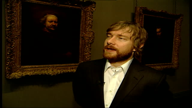 'the night watch' martin freeman interview sot peter said don't shave or get my hair cut / don't lose any weight / don't hold back on the pies - peter greenaway stock videos & royalty-free footage
