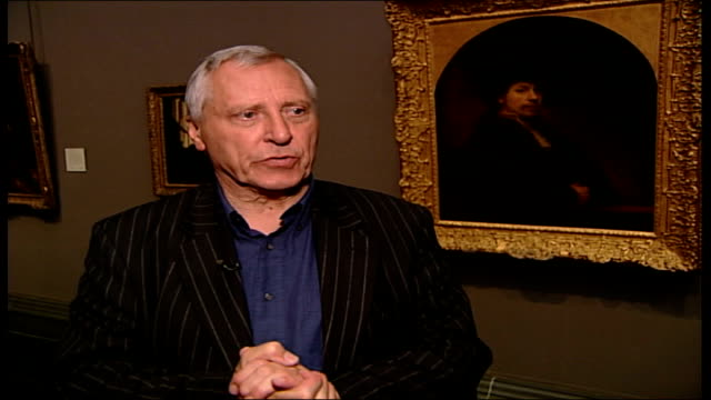 'the night watch' peter greenaway interview sot talks about the ideas he wants to put across in his new film 'the night watch' based on the story of... - peter greenaway stock videos & royalty-free footage