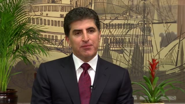 a new phase of relations will start between turkey and iraq iraqi kurdish regional government nechirvan barzani says during an exclusive interview... - ninawa stock videos & royalty-free footage