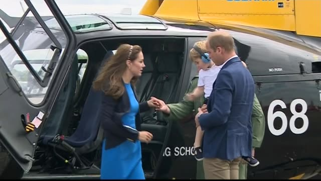 new photographs of prince george to mark his third birthday 872016 raf fairford royal international air tattoo ext catherine duchess of cambridge and... - raf fairford stock videos and b-roll footage