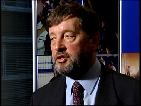new plans for nonviolent prisoners nottingham david blunkett mp interview sot for those who are dangerous violent or sex offenders we are going to... - prisoner rehabilitation stock videos & royalty-free footage