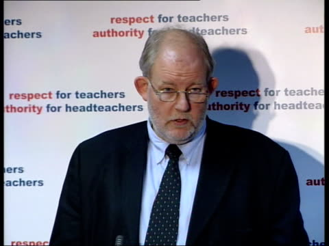 new plans to cut truancy; itn london: int charles clarke mp interview sot - regard any kind of absence not authorised by the school as truancy - charles clarke uk politician stock videos & royalty-free footage