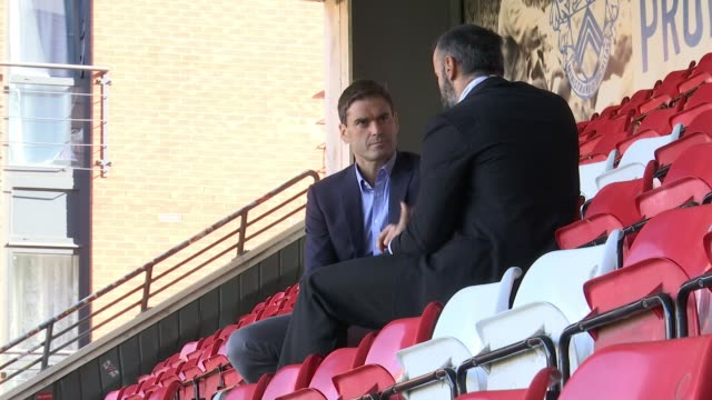 new play explores leyton orient team's role in first world war england london leyton brisbane road various of actors rehearsing michael greco... - james phelps stock videos & royalty-free footage