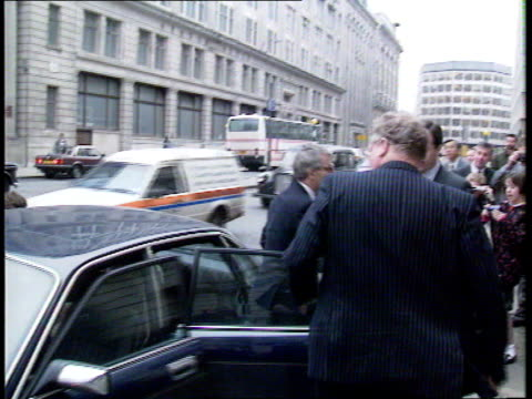 New PM and potential cabinet changes ENGLAND London John Major out car 'The Independent' 'back seat driver' headline Margaret Thatcher seated at...