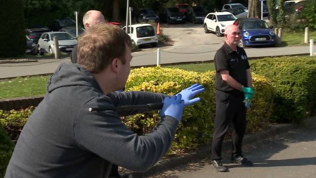 new police recruits training in gloves during the coronavirus crisis - military exercise stock videos & royalty-free footage