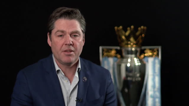 new premier league chief executive richard masters saying the answer to people with gambling problems shouldn't be a ban on clubs having partnerships... - sports league stock videos & royalty-free footage