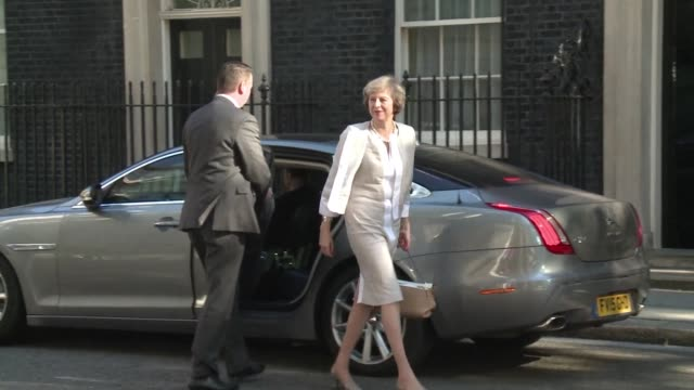 stockvideo's en b-roll-footage met new prime minister theresa may was due to hold her first cabinet meeting on tuesday - prime minister