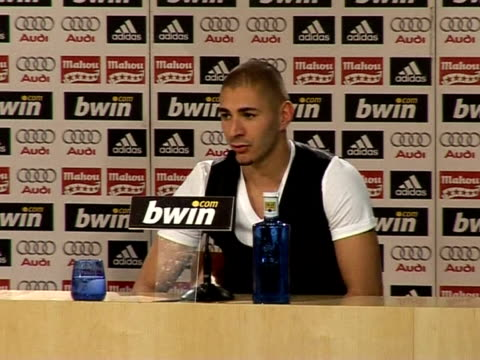 new real madrid striker karim benzema said brazilian world cup winner ronaldo will be his inspiration as he looks to fire the goals to help the... - 2009 stock videos & royalty-free footage