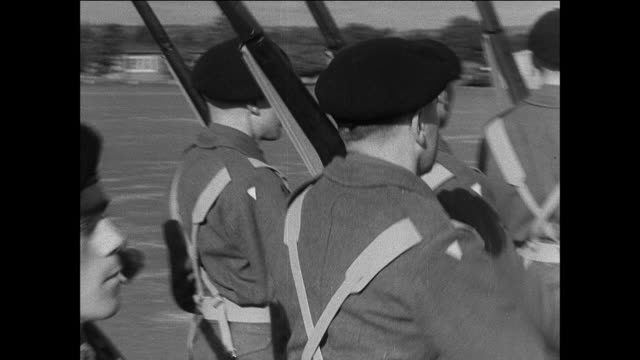 montage new recruits marching in their passing out parade / united kingdom - passing out parade stock videos & royalty-free footage