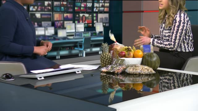 New research links one in six deaths to unhealthy eating ENGLAND London GIR INT Jenna Hope LIVE STUDIO interview SOT