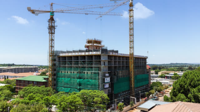 new residential building being constructed and developed in the hatfield area. - costruire video stock e b–roll