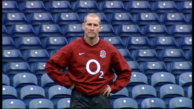 new rfu chief executive outlines plans for english rugby r30011211 surrey pennyhill park int stuart lancaster [england coach] at press conference... - lying on back stock videos & royalty-free footage