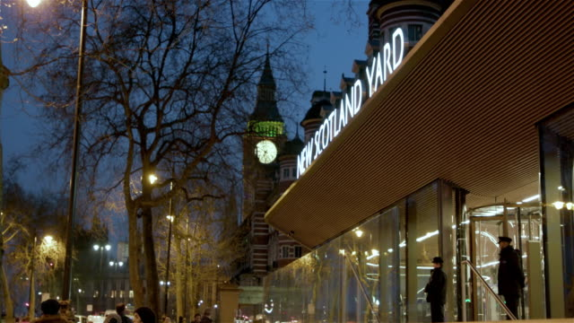 new scotland yard - whitehall london stock videos & royalty-free footage