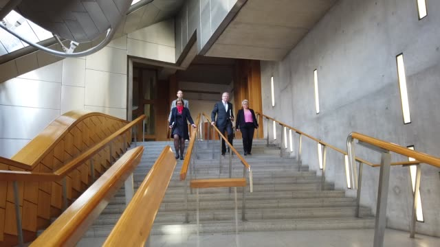 new scottish conservative leader jackson carlaw in the lobby of the scottish parliament after announcing his shadow cabinet, on february 18, 2020 in... - member of the scottish parliament stock videos & royalty-free footage