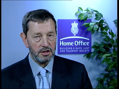 new sentencing plans announced itn david blunkett mp interviewed sot judges always want discretion to themselves where previous mandatory sentence... - sentencing stock videos & royalty-free footage
