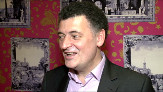 interviews; steven moffatt interview sot - ドクター フー点の映像素材/bロール
