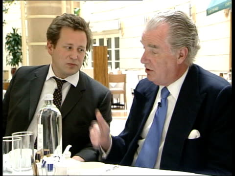 new shadow cabinet named; england: london: cms walker asking question on new beginning for the conservatives sot lord tim bell interview sot - you... - bell stock videos & royalty-free footage