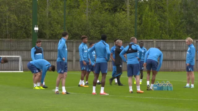 New signing Wayne Rooney joins Ronald Koeman's squad for training ahead of Everton's Europa League qualifier against Slovakian side Ruzomberok