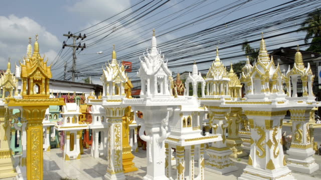 new spirit house for sale - ko samui stock videos & royalty-free footage