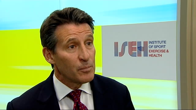 new sports institute to treat nhs patients as well as elite athletes england london the institute of sport exercise and health int lord coe standing... - exercise machine stock videos & royalty-free footage