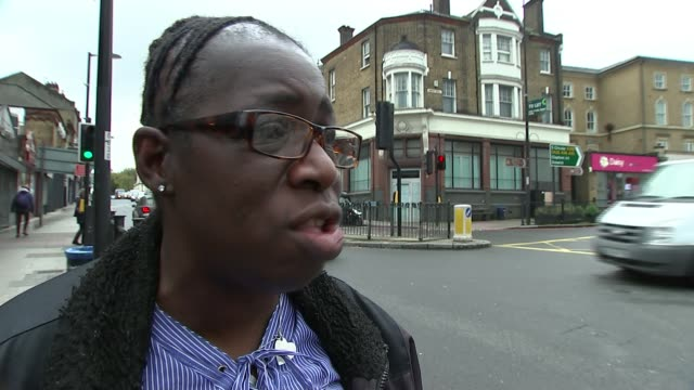 stockvideo's en b-roll-footage met new study highlights link between air pollution levels and hospital admissions; england: london: rosamund kissi-debrah interview sot reporter to... - itv