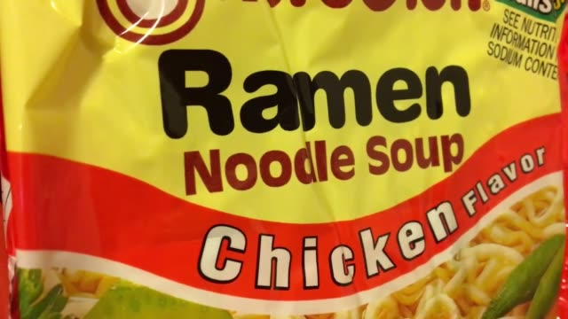a new study out today says ramen noodles are replacing cigarettes as currency in prisons various shots of maruchan ramen noodles packaging and... - ramen noodles stock videos & royalty-free footage