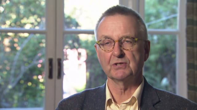 New study proposes drastic reduction in meat consumption ENGLAND London INT Professor Tim Lang interview SOT Pile of cooked bacon in café Chips being...