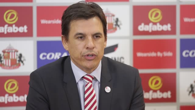New Sunderland manager Chris Coleman and Chief Executive Martin Bain give a press conference ahead of the team's match against Aston Villa The former...
