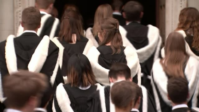 new survey shows gender stereotyping in young children; t30061709 / 30.6.2017 cambridge university students graduating - graduation stock videos & royalty-free footage