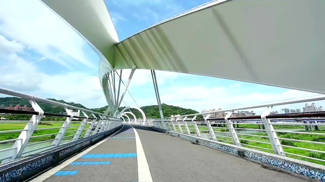 new taipei bridge - taipei stock videos & royalty-free footage