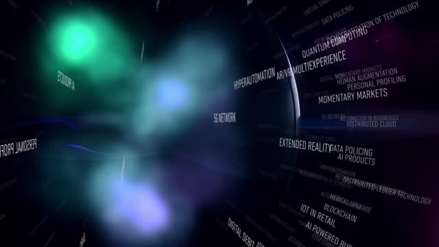 vídeos de stock, filmes e b-roll de tendências de novas tecnologias para 2020 - informática quântica