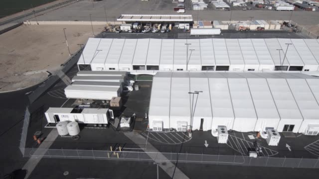 new temporary facility has been completed in yuma, arizona as part of the ongoing response to the current border security and humanitarian crisis... - detainee stock videos & royalty-free footage