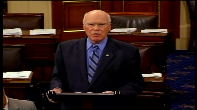 new terror legislation; us senate: senator patrick leahy speaking to senate sot - you wonder why some of our closest allies ask us what in heaven's... - リーハイ点の映像素材/bロール