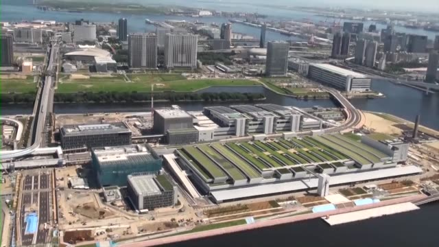 A new Tokyo Metropolitan Central Wholesale Market under construction in the Japanese capital's Toyosu district which will take over from the famous...
