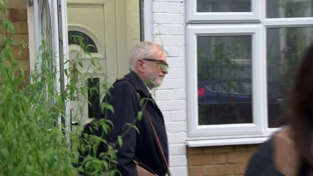 new tory mps arrive in westminster following general election victory; england: london: jeremy corbyn along from house - jeremy corbyn stock videos & royalty-free footage