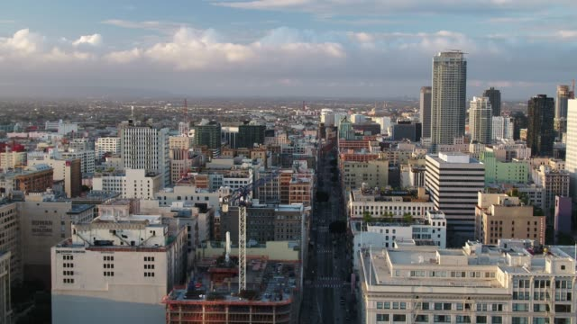 New Towers Rising Over DTLA - Drone Shot
