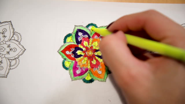 a new way to relieve stress-mandala - mandala stock videos & royalty-free footage