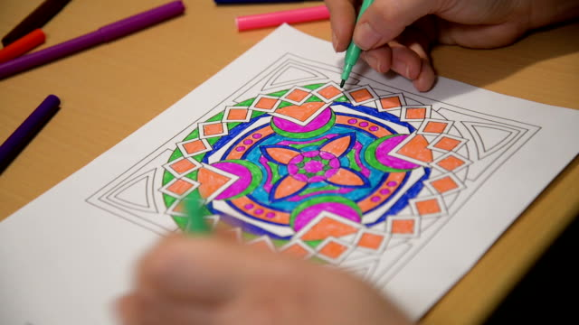 A new way to relieve stress-mandala
