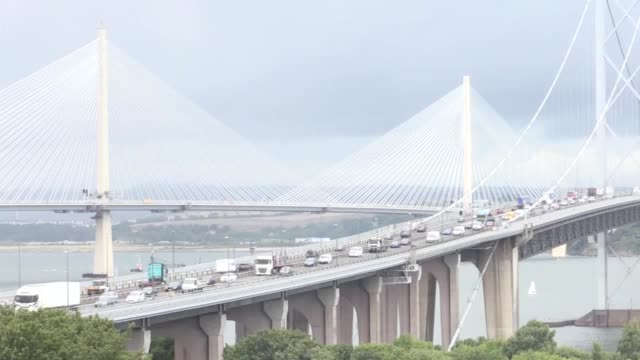 a new website has been launched providing traffic updates for the forth bridges and is also aimed at boosting tourism social media users were urged... - fluss firth of forth stock-videos und b-roll-filmmaterial
