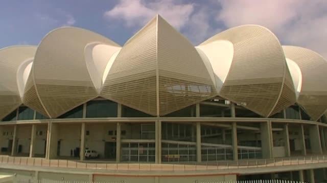 new world cup stadium ahead of 2010 tournament south africa; 2 march 2010 - fußballweltmeisterschaft 2010 stock-videos und b-roll-filmmaterial