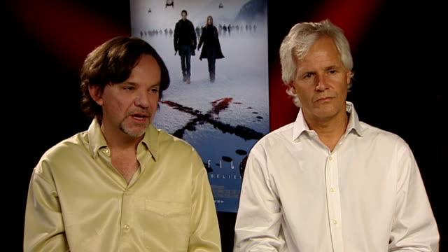New 'X Files' film premiered Frank Spotnitz interview SOT