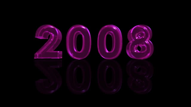 hd new year 2008 #1p - 2008 stock videos & royalty-free footage