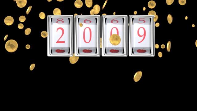 vídeos de stock, filmes e b-roll de ano novo 2009 - jogo da sorte